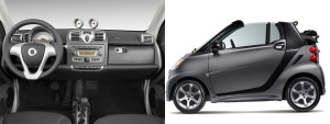Smart ForTwo convertible city car